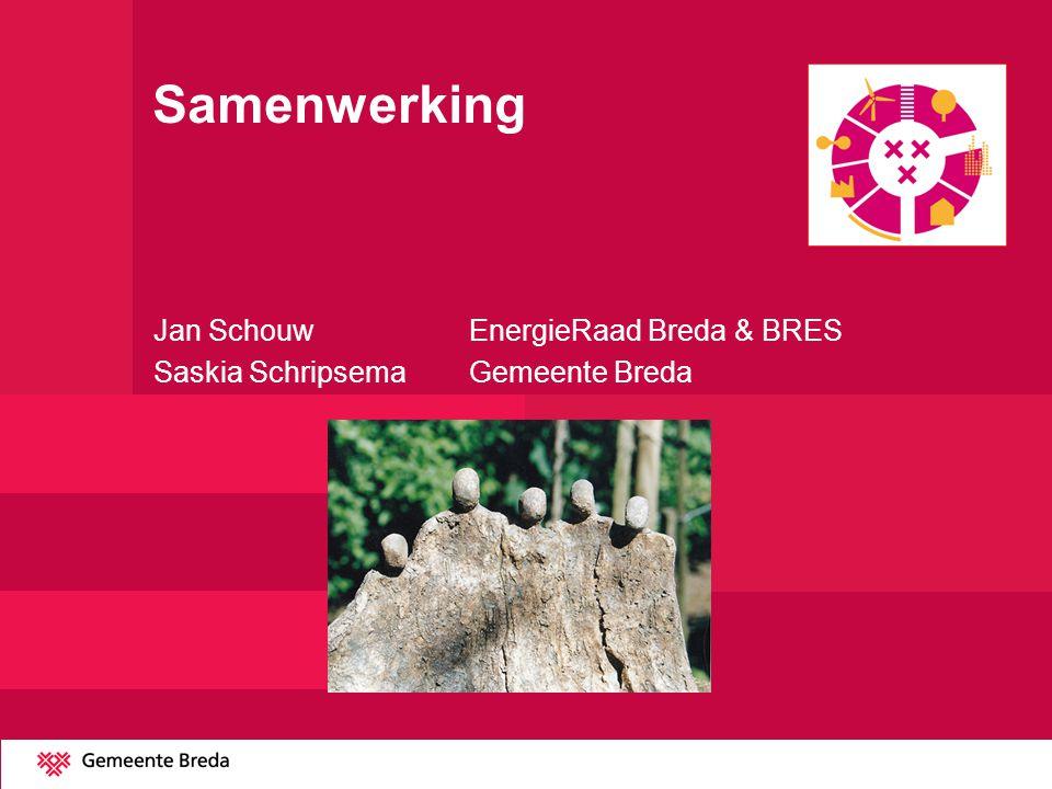 Samenwerking Jan Schouw EnergieRaad Breda & BRES Saskia SchripsemaGemeente Breda