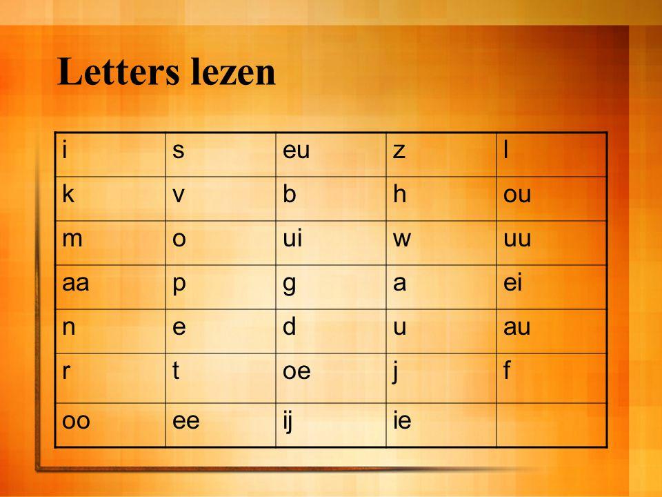 Letters lezen iseuzl kvbhou mouiwuu aapgaei neduau rtoejf ooeeijie