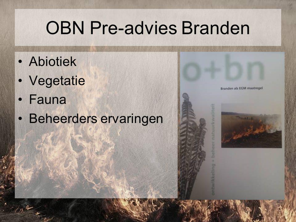 OBN Pre-advies Branden Abiotiek Vegetatie Fauna Beheerders ervaringen