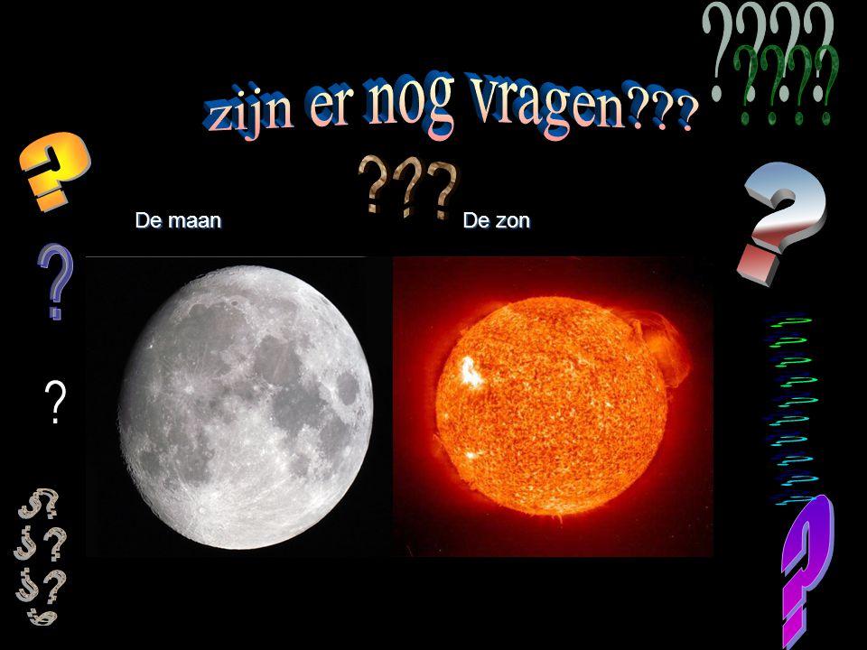 De maan De zon