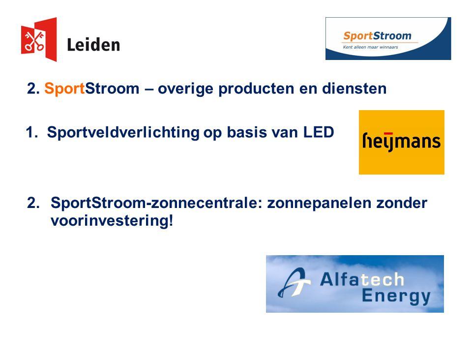 2. SportStroom – overige producten en diensten 1.
