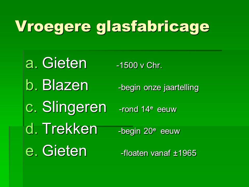 Vroegere glasfabricage a.Gieten -1500 v Chr.
