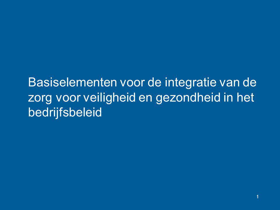 1 Basiselementen voor de integratie van de zorg voor veiligheid en gezondheid in het bedrijfsbeleid