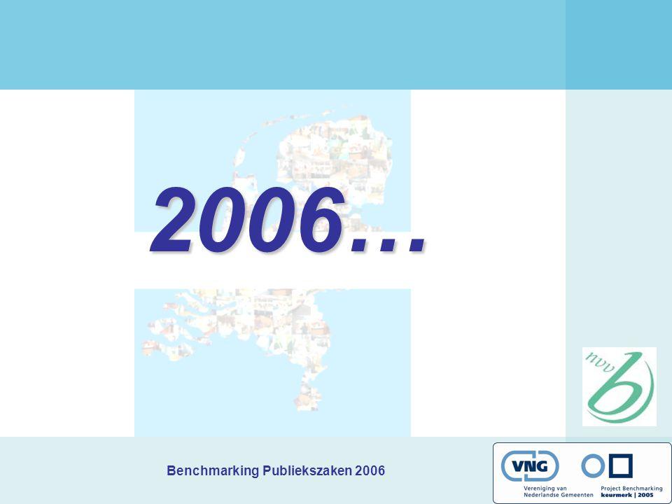 Benchmarking Publiekszaken 2006 2006…
