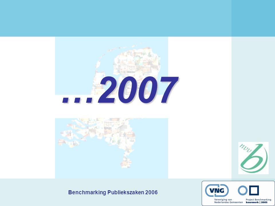 Benchmarking Publiekszaken 2006 …2007