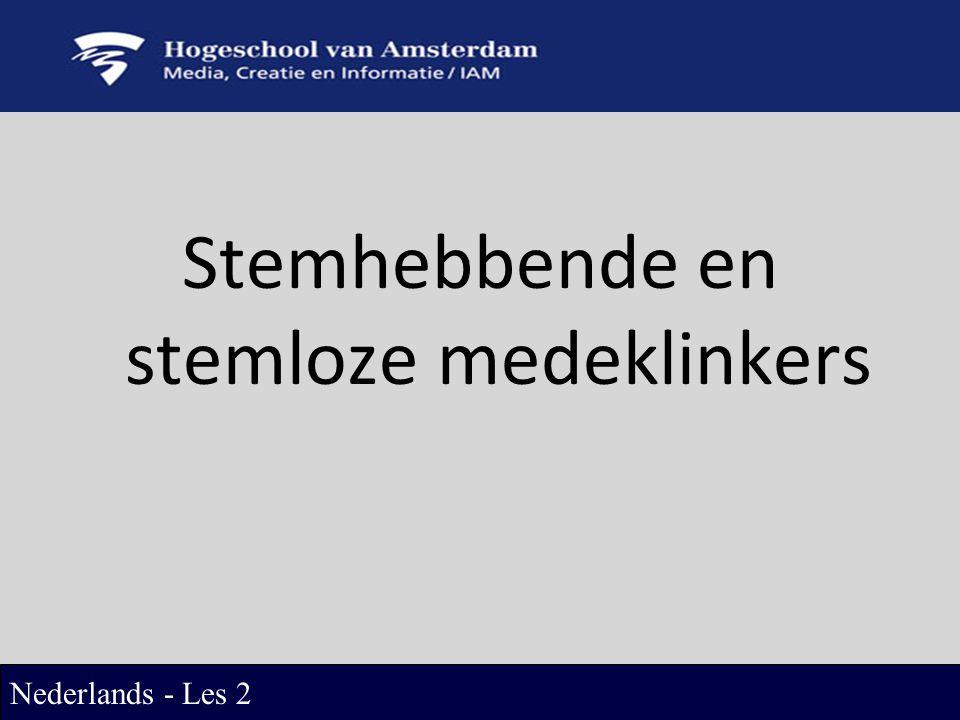 Stemhebbende en stemloze medeklinkers Nederlands - Les 2