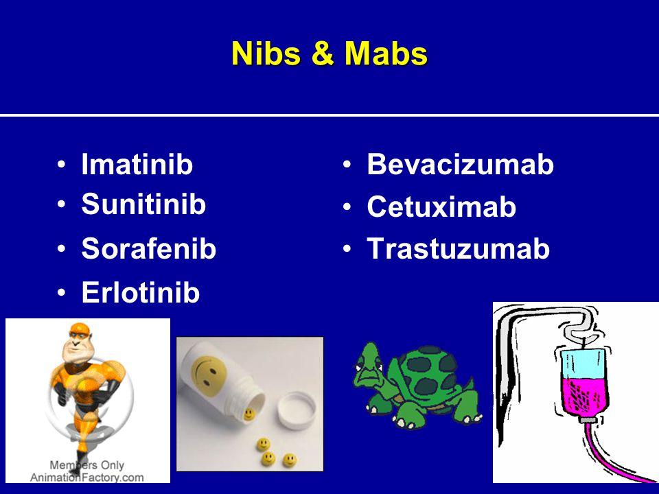 Nibs & Mabs Imatinib Sunitinib Sorafenib Erlotinib Bevacizumab Cetuximab Trastuzumab