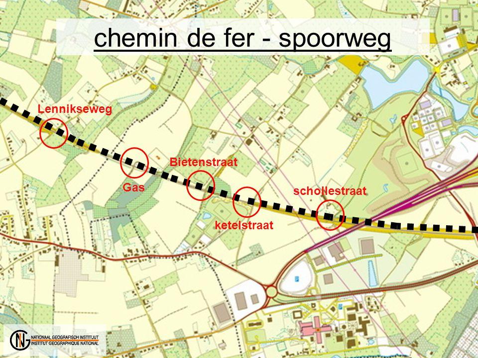 schollestraat ketelstraat Bietenstraat Gas Lennikseweg chemin de fer - spoorweg