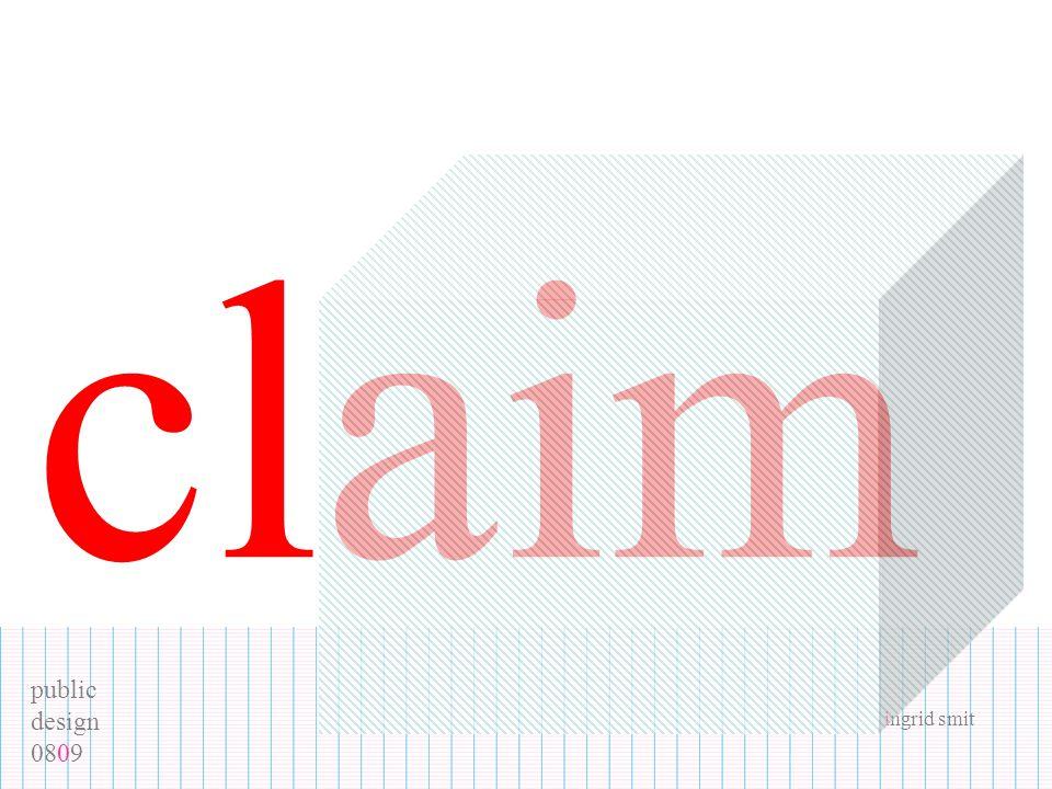 public design 0809 ingrid smit claim
