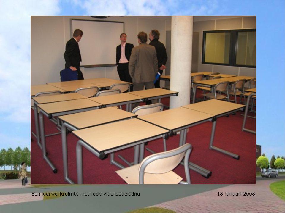 Een leerwerkruimte met rode vloerbedekking 18 januari 2008