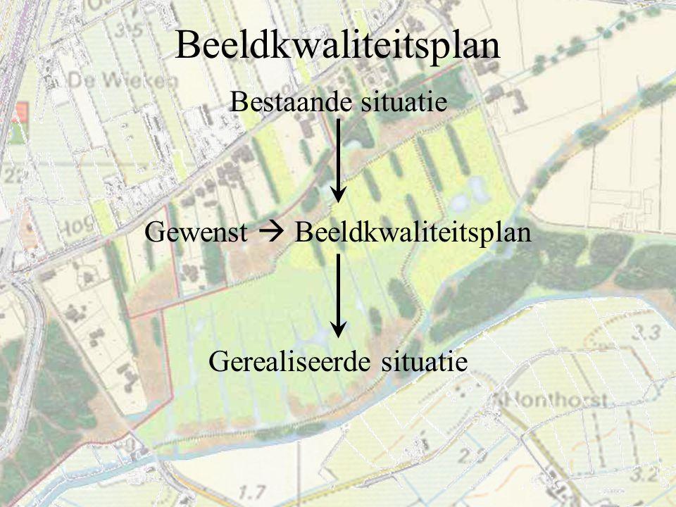 Beeldkwaliteitsplan Bestaande situatie Gewenst  Beeldkwaliteitsplan Gerealiseerde situatie