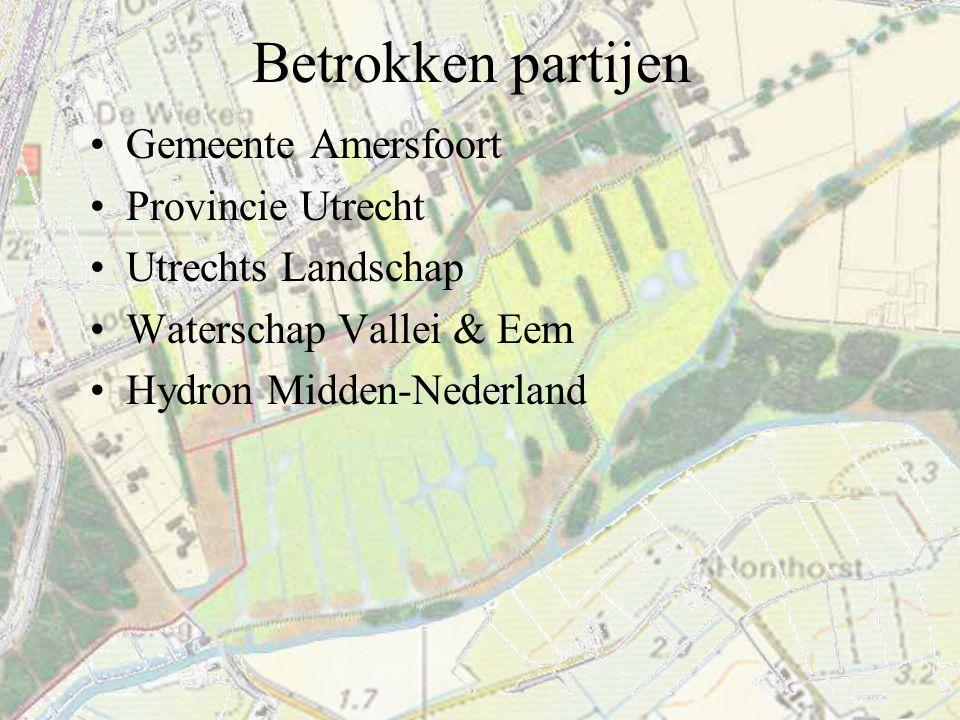 Verloop planontwikkeling '98 Structuurplan Wieken/Vinkenhoef & natuurgebied Bloeidaal, inclusief MER '01 Bestemmingsplan (BP) gereed '02 Vaststelling en goedkeuring BP '03 Onherroepelijk BP '02-'03 Inrichtingsschets Bloeidaal '02-'03 Verwerving gronden '03 Subsidies (NBW/D2) '04 Bestek hydrologische buffer '04-'06 Realisatie hydr.