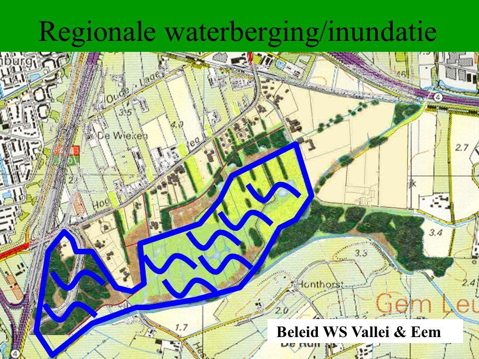 Regionale waterberging/inundatie Beleid WS Vallei & Eem