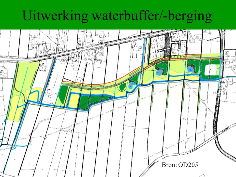 Uitwerking waterbuffer/-berging Bron: OD205