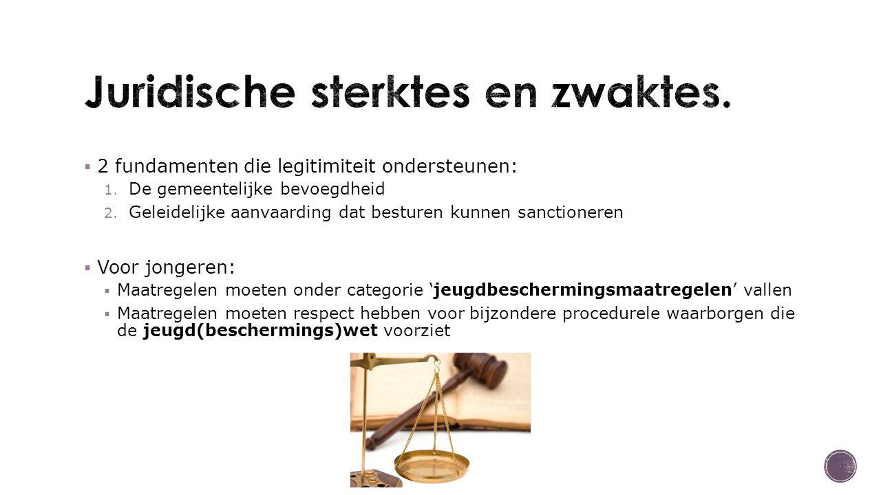  Te ruime interpretatie  Te veel ruimte om naar eigen inzicht te handelen  Vlinderakkoord 2011 – bevoegdheidsoverdracht