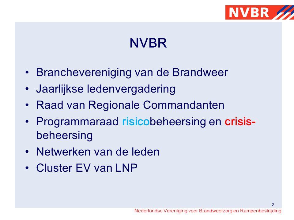 Nederlandse Vereniging voor Brandweerzorg en Rampenbestrijding NVBR Branchevereniging van de Brandweer Jaarlijkse ledenvergadering Raad van Regionale