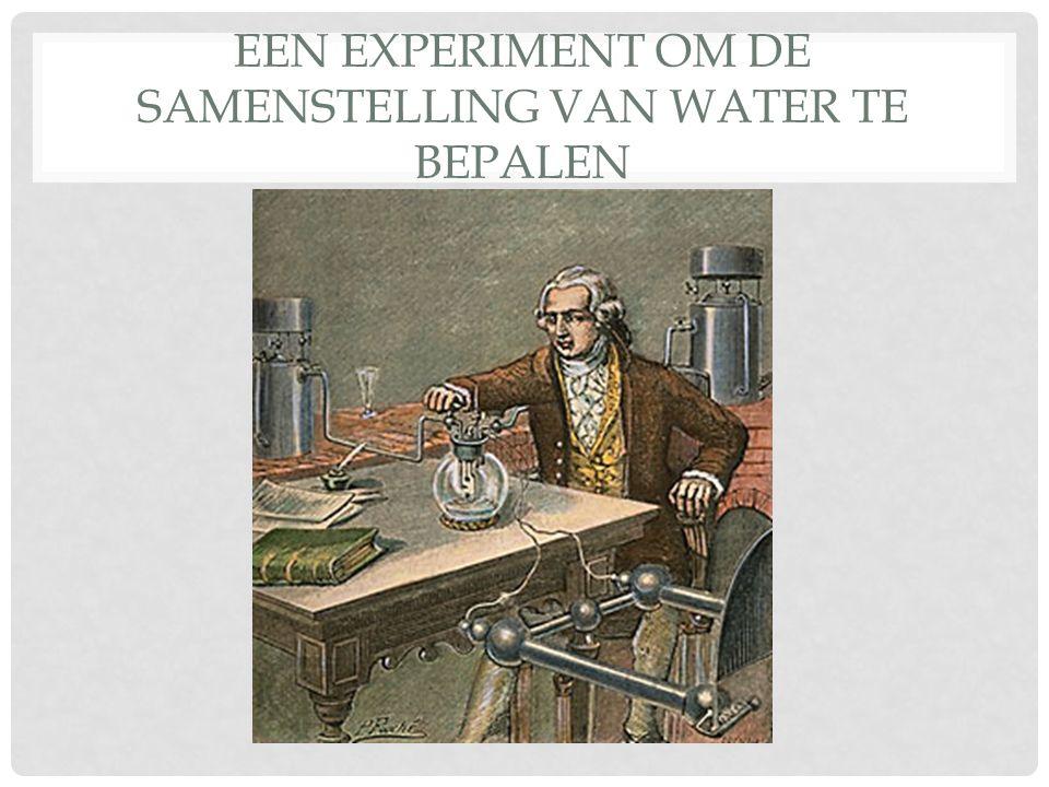 EEN EXPERIMENT OM DE SAMENSTELLING VAN WATER TE BEPALEN