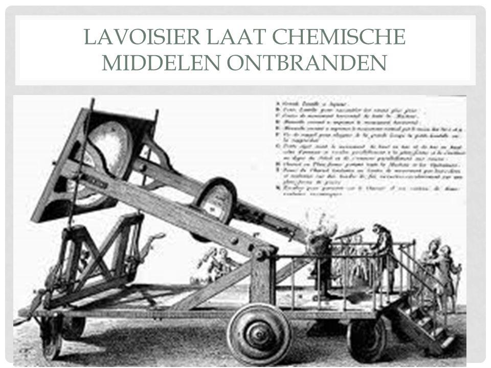 LAVOISIER LAAT CHEMISCHE MIDDELEN ONTBRANDEN