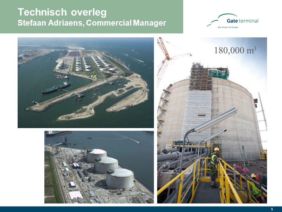 1 Technisch overleg Stefaan Adriaens, Commercial Manager 180,000 m 3