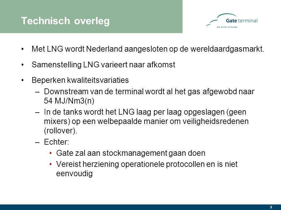 2 Technisch overleg Met LNG wordt Nederland aangesloten op de wereldaardgasmarkt.