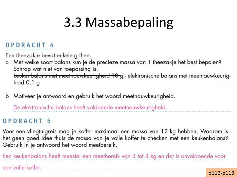 3.3 Massabepaling p112-p113