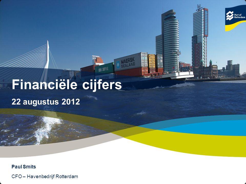 2 © Copyright - Port of Rotterdam - 2012 Images (4x) Stijgende omzet, winst en investeringen Afgeronde bedragen: x € 1 miljoen +3% Overslag* * In miljoenen tonnen +6% Omzet +22% Netto resultaatBruto investeringen +32%