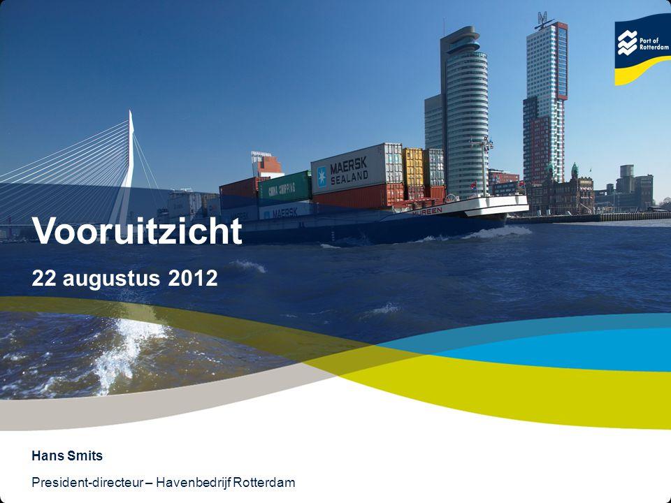 12 © Copyright - Port of Rotterdam - 2012 Object & Undertitle Samenhang overslag en industriële productie (2005 = 100)