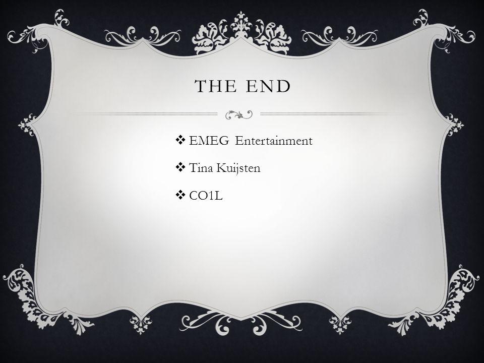 THE END  EMEG Entertainment  Tina Kuijsten  CO1L