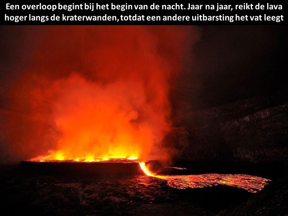 Het naderen van 282 miljoen kubieke meter lava vereist uitgebreide bescherming
