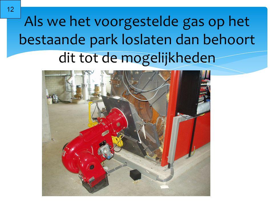 Als we het voorgestelde gas op het bestaande park loslaten dan behoort dit tot de mogelijkheden 12