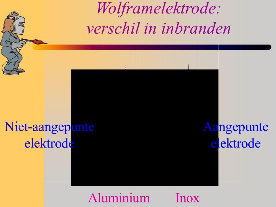 Regelapparatuur: stroomsterkte  Afhankelijk van de dikte van het te lassen materiaal gaan we de stroomsterkte regelen.