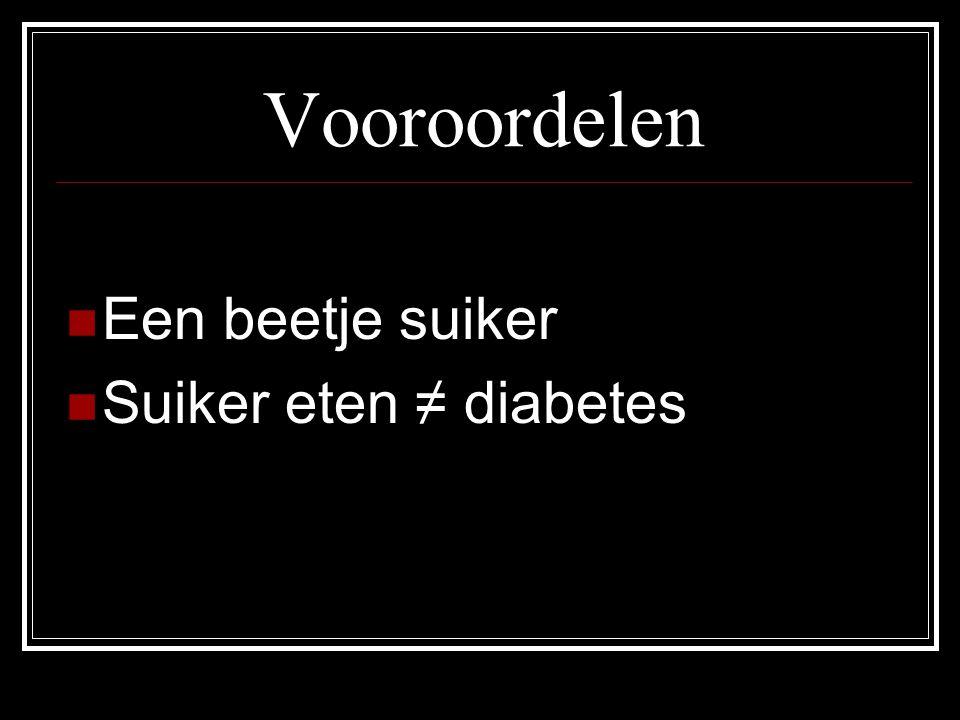 Cijfers Belgie  Meer dan 700 000  In 2025 meer dan 1 miljoen  10% kans dat je tijdens je leven diabetes krijgt  1 op 2 (type 2 – tussen de 50 en de 74 jaar) weten het niet Wereld  In 2003 - 189 miljoen  In 2025 - 300 miljoen  = een stijging van 72%