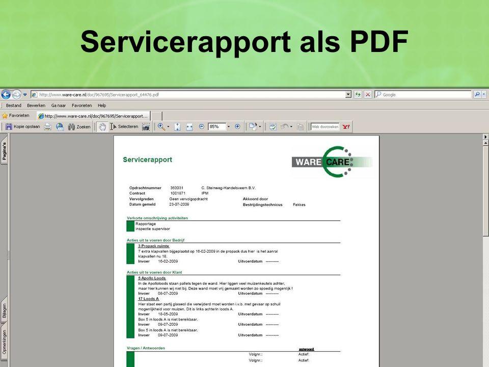 Servicerapport als PDF