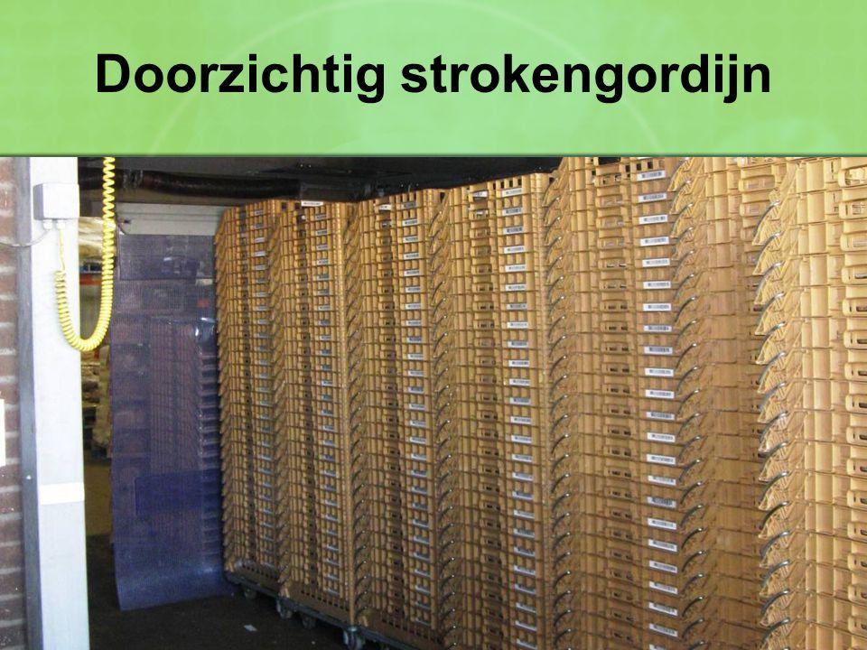 Doorzichtig strokengordijn