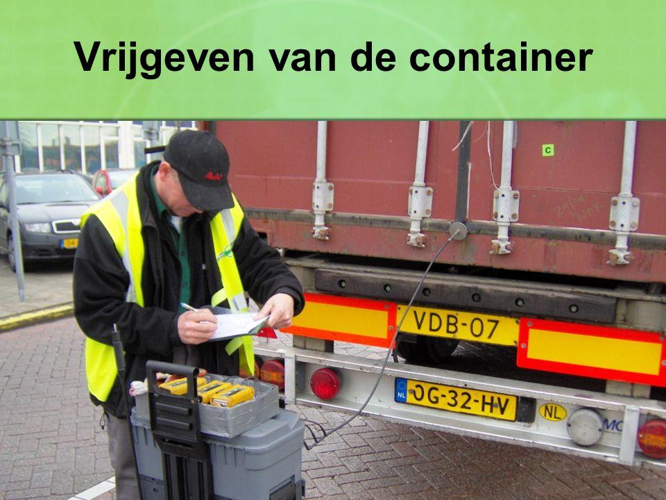 Vrijgeven van de container