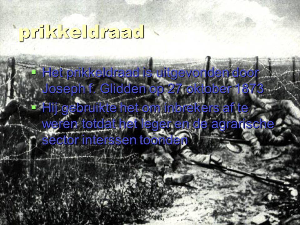 stefan van bemmel 3ta prikkeldraad  Het prikkeldraad is uitgevonden door Joseph f.