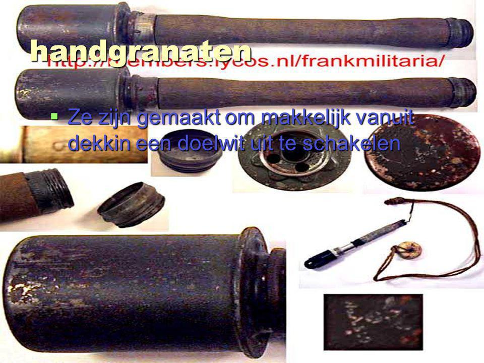 stefan van bemmel 3ta handgranaten  Ze zijn gemaakt om makkelijk vanuit dekkin een doelwit uit te schakelen