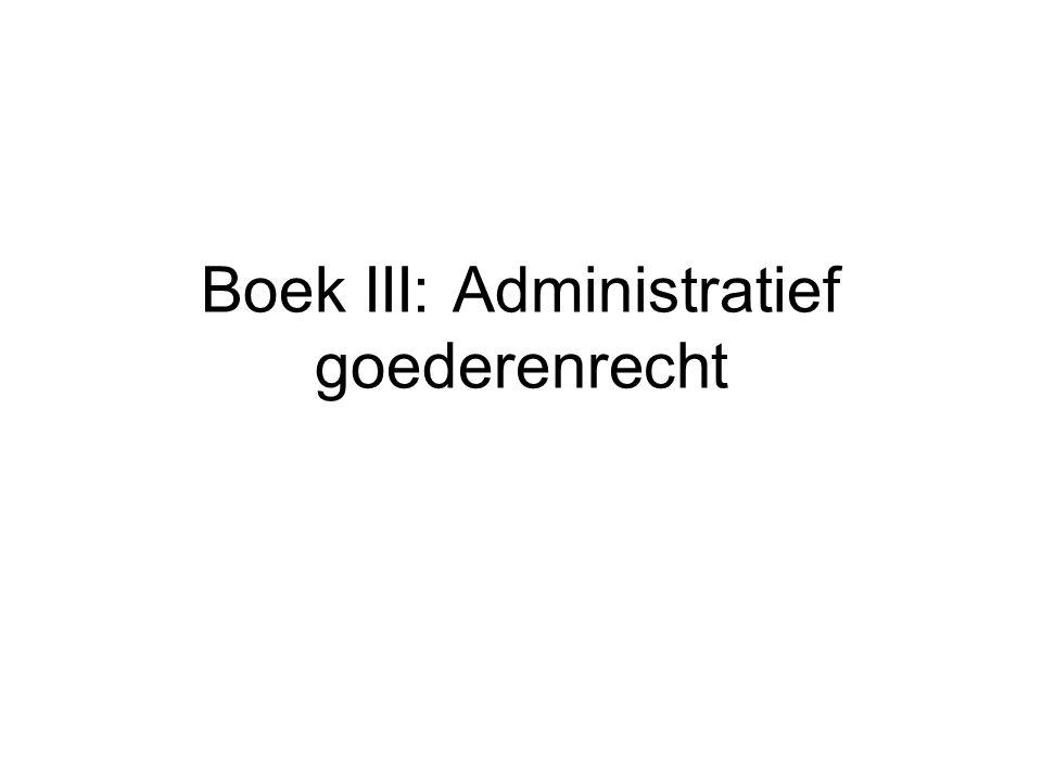 Openbaar en privaat domein Belang van het onderscheid: bijzonder juridisch regime van het domein van overheidslichamen Art 537 B.W.