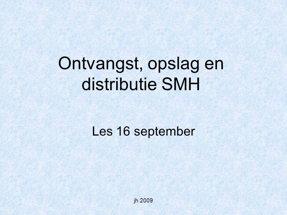 jh 2009 Ontvangst, opslag en distributie SMH Les 16 september
