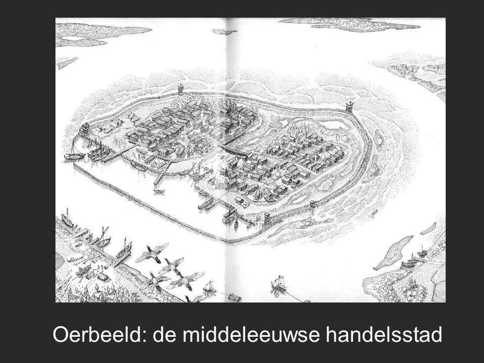 'Steden' in geschreven bronnen civitas, castrum, burgus (= nadruk 'centre of power') portus, vicus (= nadruk handel)