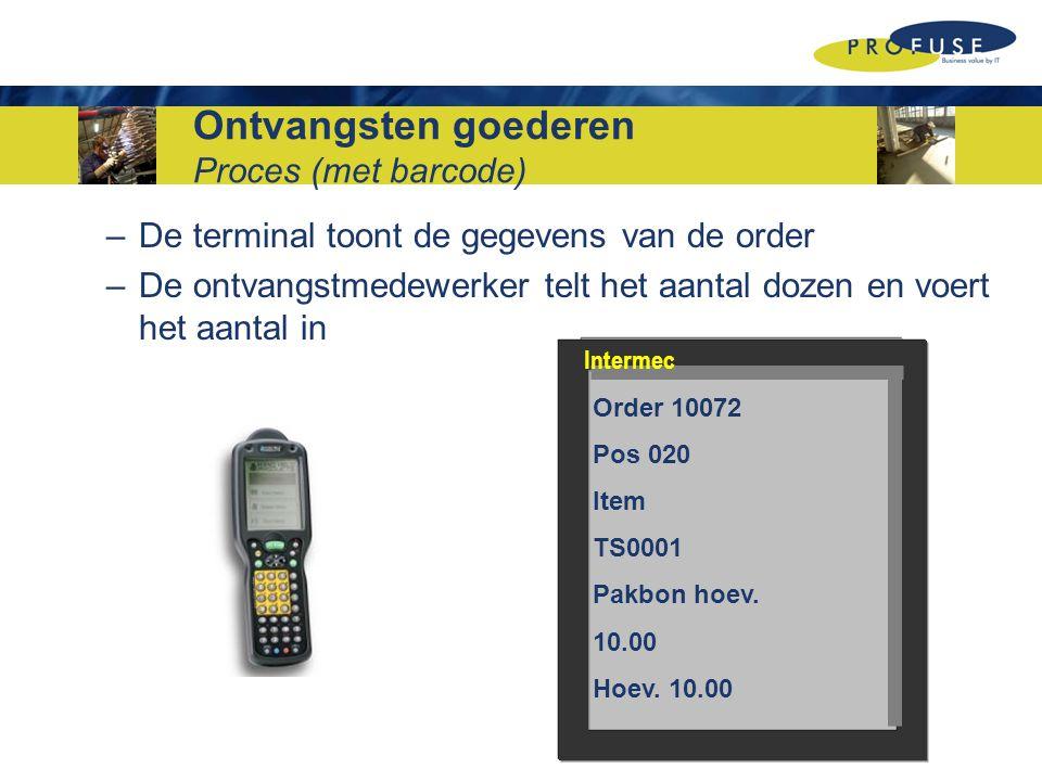 Magazijn inventarisatie Agenda Proces (handmatig) Knelpunten Proces (met barcode) Voordelen Demonstratie