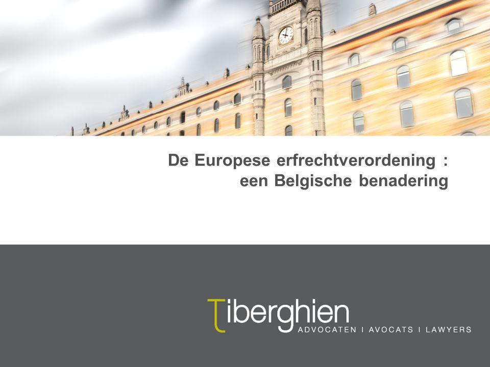 De Europese erfrechtverordening : een Belgische benadering