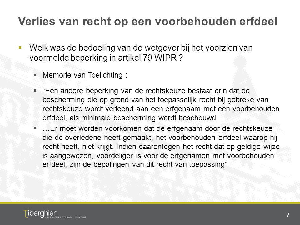 Europese erfrechtverordening  Kunnen via het principe van de rechtskeuze de regels van de Belgische reserve (geheel of gedeeltelijk) buiten spel worden gezet .