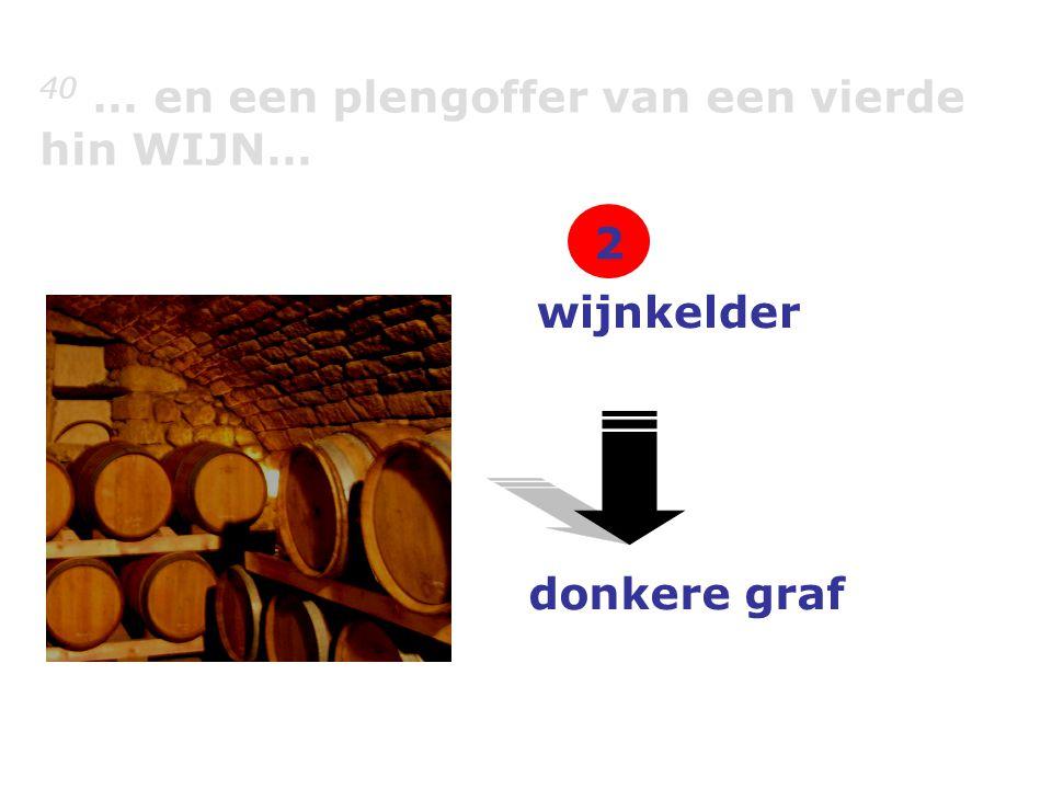 40 … en een plengoffer van een vierde hin WIJN… wijnkelder donkere graf 2