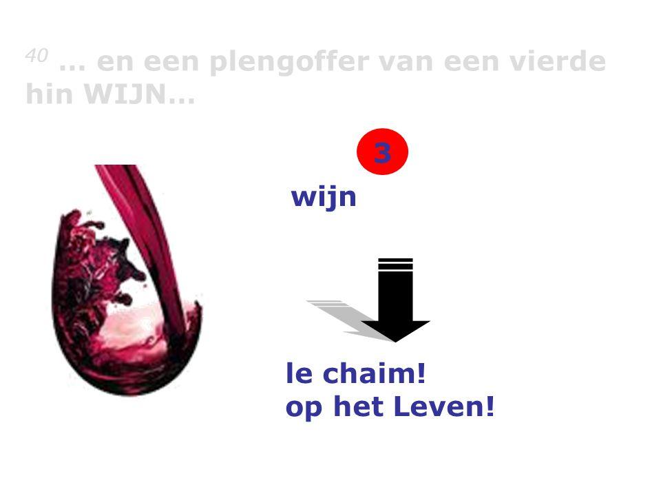 40 … en een plengoffer van een vierde hin WIJN… wijn le chaim! op het Leven! 3