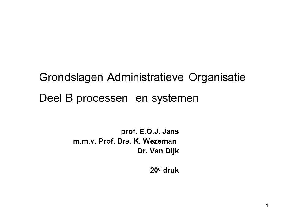1 prof.E.O.J. Jans m.m.v. Prof. Drs. K. Wezeman Dr.