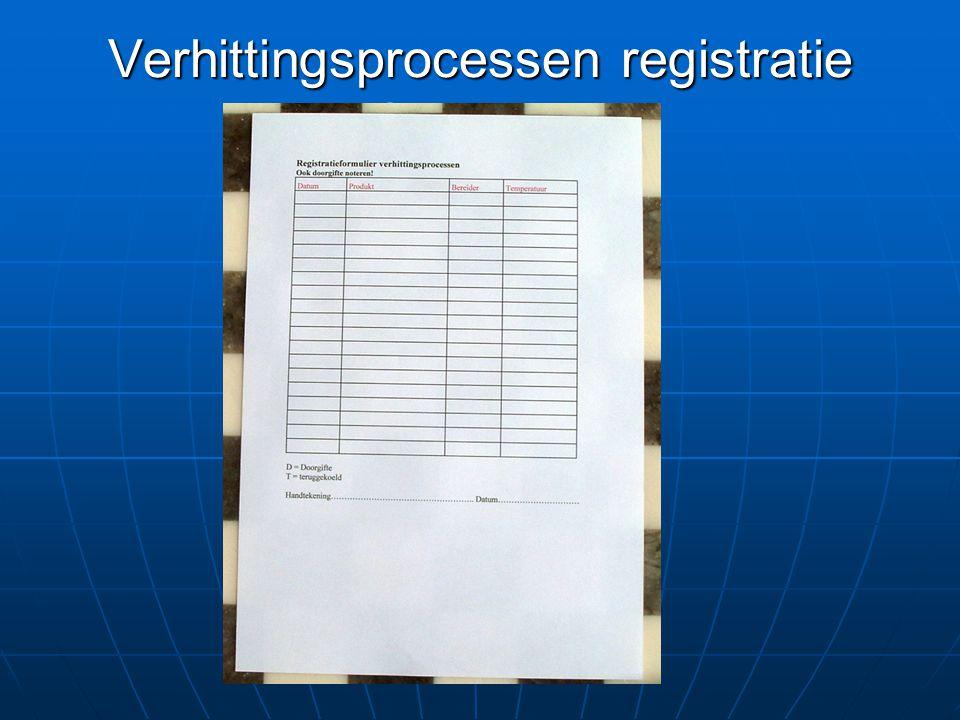 Verhittingsprocessen registratie formulier