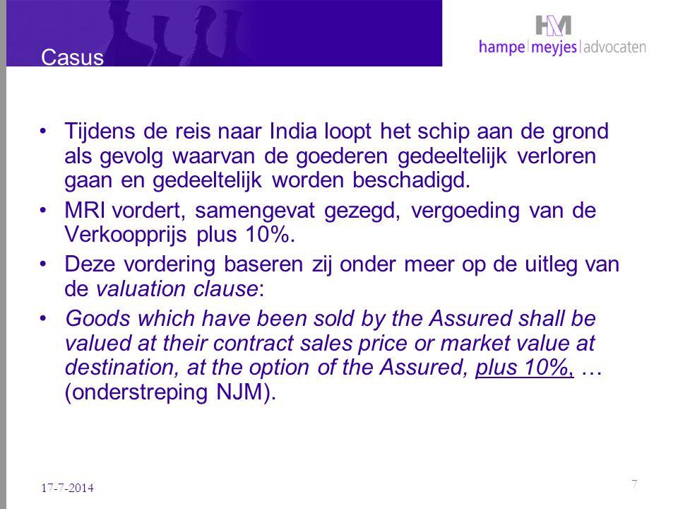 Standpunt verzekeraars Verzekeraars betwisten echter dat zij de 10% opslag verschuldigd zijn.