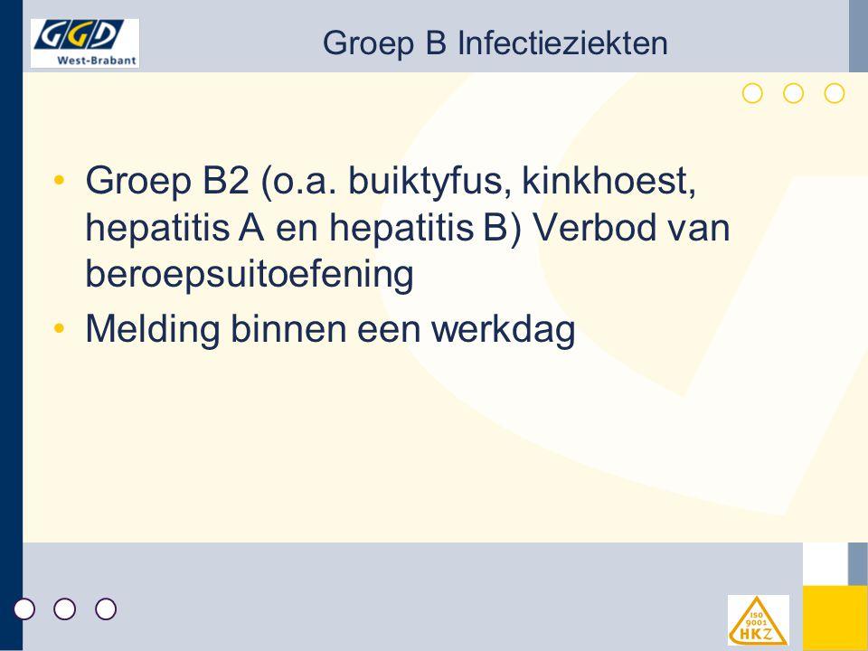 Groep B Infectieziekten Groep B2 (o.a.