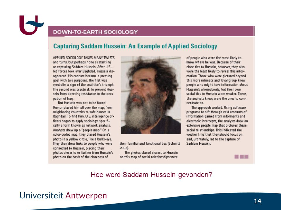 14 Hoe werd Saddam Hussein gevonden?